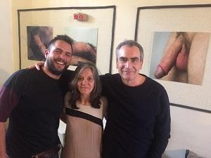 En la imagen el fotógrafo Jesús Mayorga, Vivi López Doynel directora fundadora del El Umbral de Primavera y Luis Muñoz Díez. Foto Santi Senso
