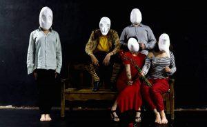 Máscara Larvaria. Escuela Internacional de Teatro Arturo Bernal
