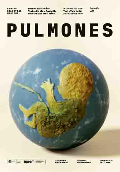 El cartel invita a cuidar al planeta Tierra, como un niño por nacer