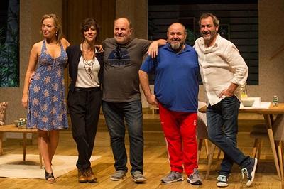 Daniel Veronese Maribel Verdú, Daniel Veronese, Jorge Calvo, Jorge Bosch, actrices director y actors de Invencible de Torben Betts