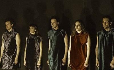 En la imagen de Virginia Rota, los actores Mikel Arostegui, Elena Esparcia, Jose Andrés López María Pizarro y Román Méndez de Hevia.