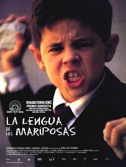 Una imagen impresionante del niño Manuel Lozano en el Cartel de La lengua de las mariposas