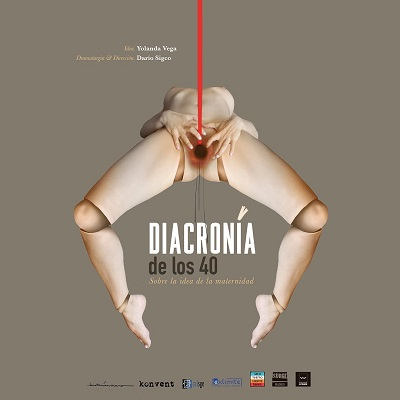 El cartel Diacronía de los 40, es un es un impactante diseño de Elisa Forcano