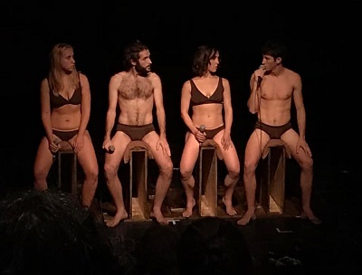 Patricia Jorge, Aldán Pino, Elisa Forcano y Felipe Muñoz comparten con el público sus fantasías sexuales en Alexandra (Llévame pronto) de Paula Amor y Jose Andrés López