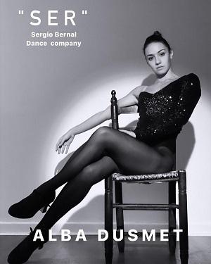Una imagen Alba Dusmet, una bailarina de una pieza del vídeo de promoción de SER