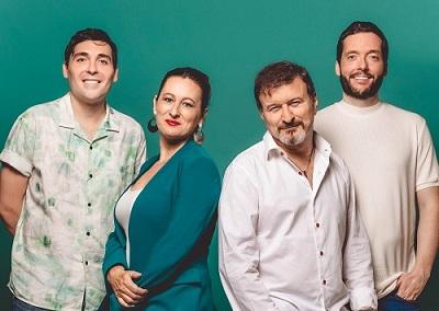 En la imagen el autor y actor Luis Flor, la actriz Susana Hernaiz, el director Juan Carlos Talavera y el actor Felipe Andrés de El mejor de los sentidos