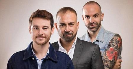 Roberto Velasco Jesus Amate y Sergio Torres tres actores para Erotic Massage, de Juan Jesús Sánchez Amate Foto Pablo Olewski.
