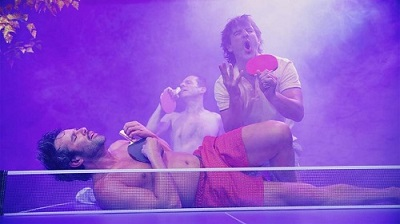 En la imagen los tres amigos en trance, mientras aseguran que las setas alucinógenas no les han hecho efecto alguno.
