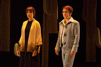 """En la imagen los actores Zaida Montes y José Troncoso, Juana y Tomás en """"Paloma negra"""" de Alberto Conejero ©Susana Martín"""