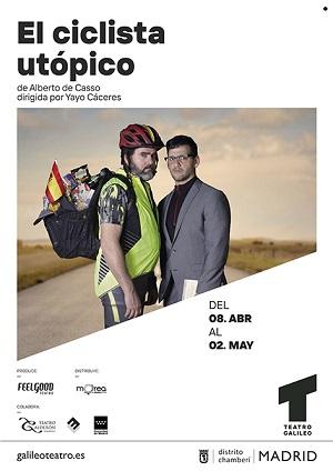 """En la imagen los actores Fernando Soto y Fran Perea en """"El ciclista utópico"""" de Alberto de Casso y dirigida por Yayo Cáceres"""