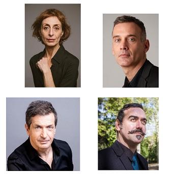 En la imagen la actriz Carmen Mayordomo, los actores Iván Ugalde y Gabriel Moreno, y el autor Carlos Be HAMLET/21 –Informe de una exhumación-