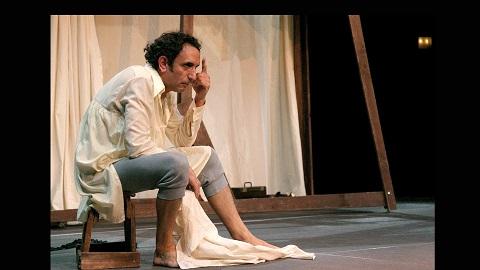 El actor José Luis Esteban recrea a Buscón don Pablos, escrito por Quevedo. El Buscón Teatro del Temple.
