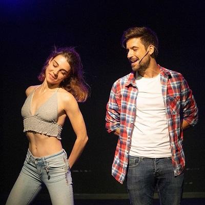 Carmen Climent y Enrique Cervante dos actores con mucha química en el musical Madrid 24h, Pau Barbarà