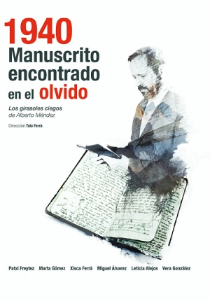 """En el cartel Patxi Freytez -El lector- de """"1940 Manuscrito encontrado en el olvido"""""""