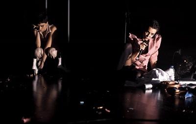 Elena Villa, Claudia Lafuente en Dirty Acting, con dramaturgia y dirección de Josete Corral para Vida Cantina